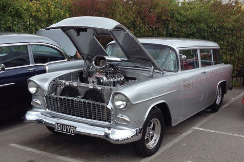 Chevys 55 Chevy Wagon Supercharged