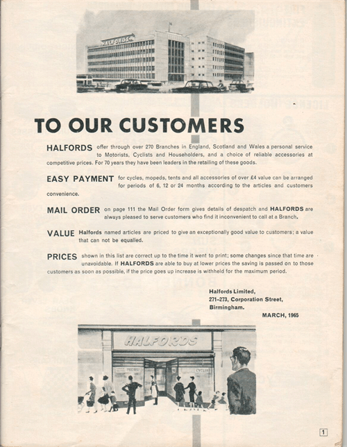 Halfords catalogue 1965 honest john ifcr publicscrutiny Image collections