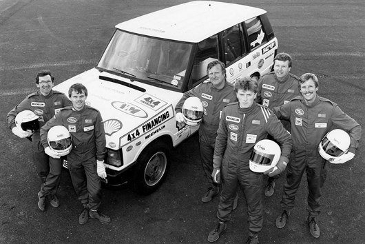 The Victorious Drivers . L-R Mike Smith , John Faulkner , Colin Parkes , Jon Ward , John Woodward , And Pip Archer