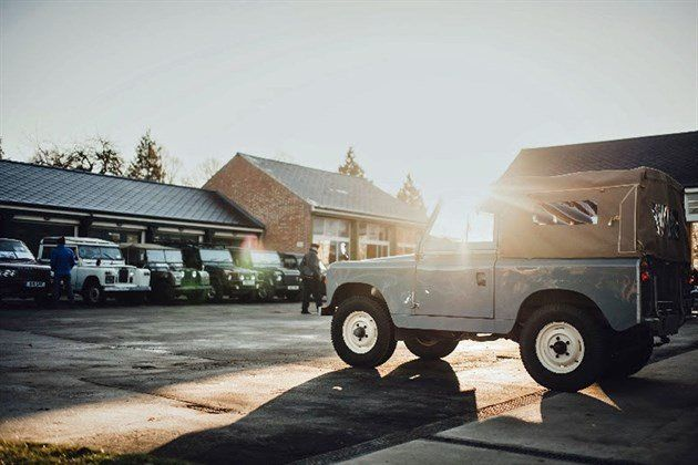Bicester Heritage Land Rovers