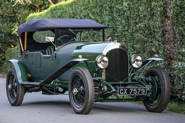 Bentley 3 Litre Tourer 1925 Hood Up Historics