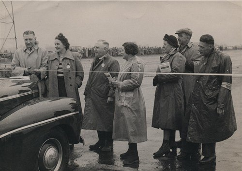 Croft -aerodrome -image -of -formal -opening -with -ribbon -cutting