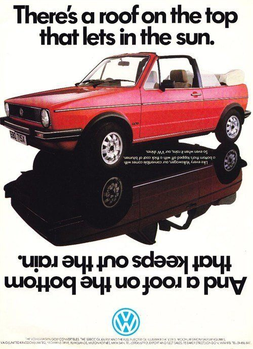 Classic Ad (VW Golf Cabriolet)