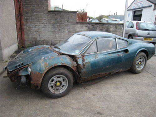1973 Ferrari 246GT Dino Barn Find Side